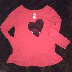 Girls 10 Gymboree heart tunic